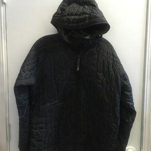 Saloman Black xl  embroidery white hoodie